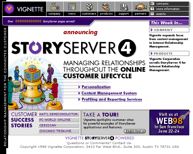 StoryServer version 4, which included even more personalization tools