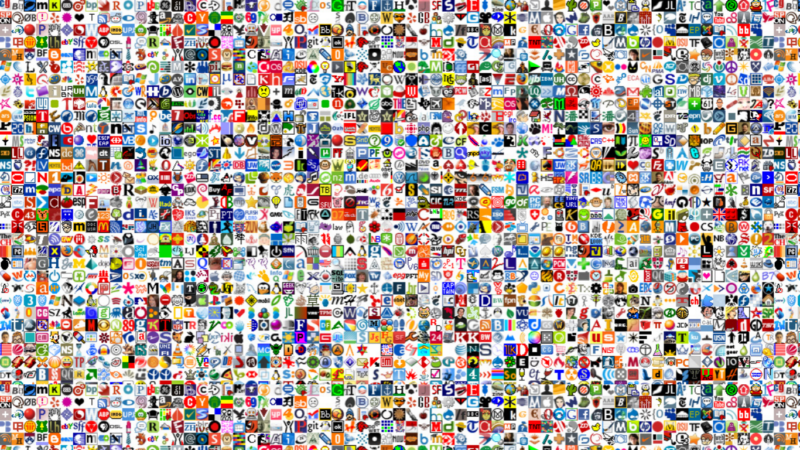 An image of favicons from several different sites