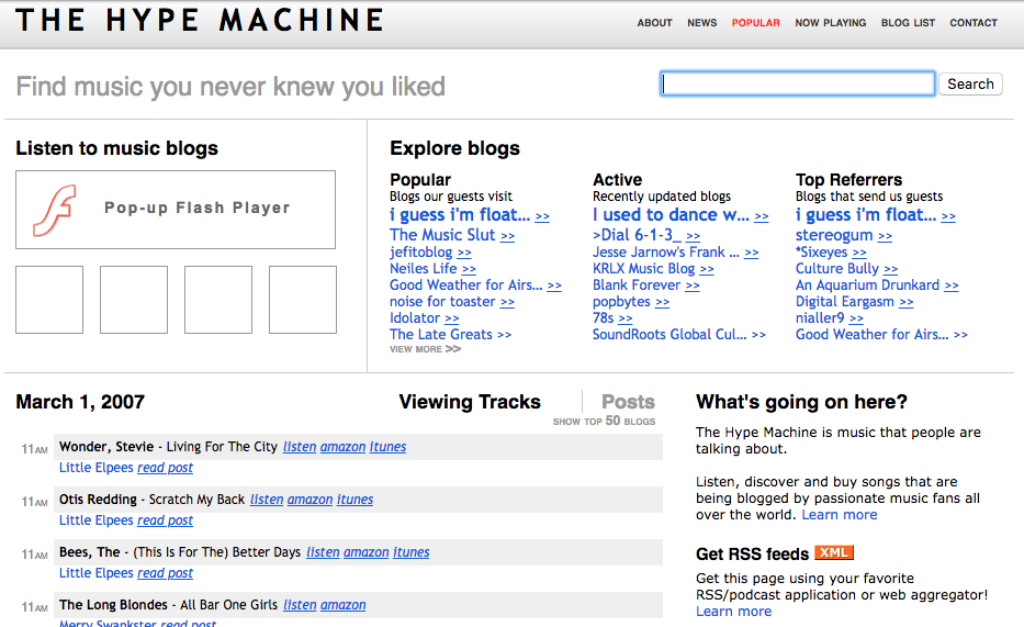 Hype Machine - The History of the Web