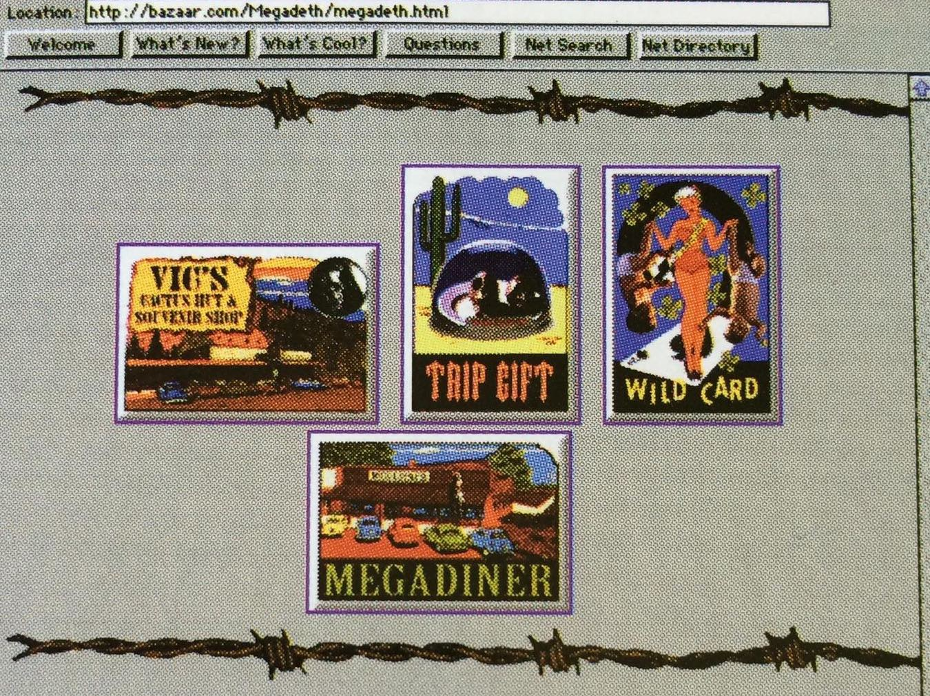 Screenshot of the Megadeth, Arizona site