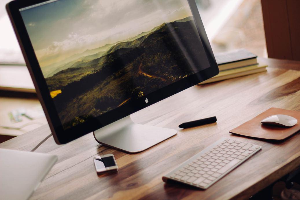 Retina Macbook desktop computer