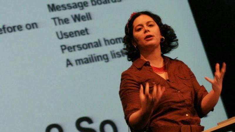 Mena Trott giving a TED Talk