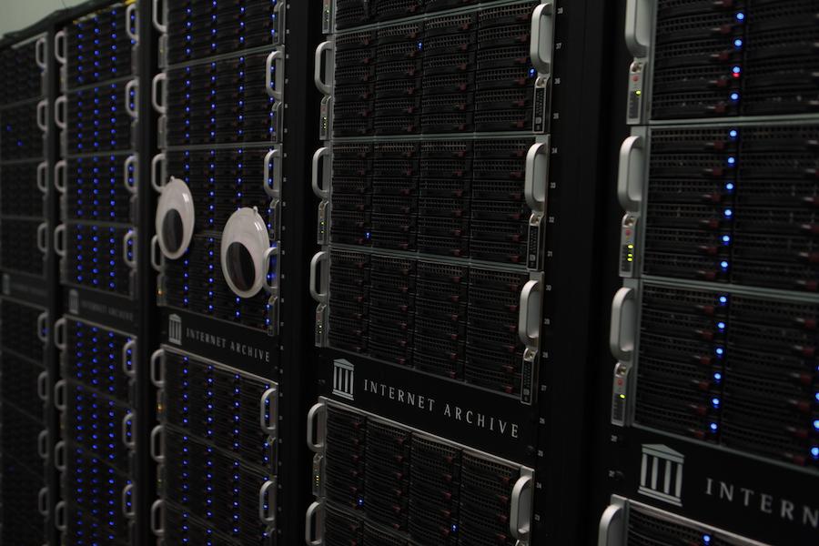 Internet Archive server stack