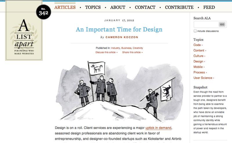 A List Apart design