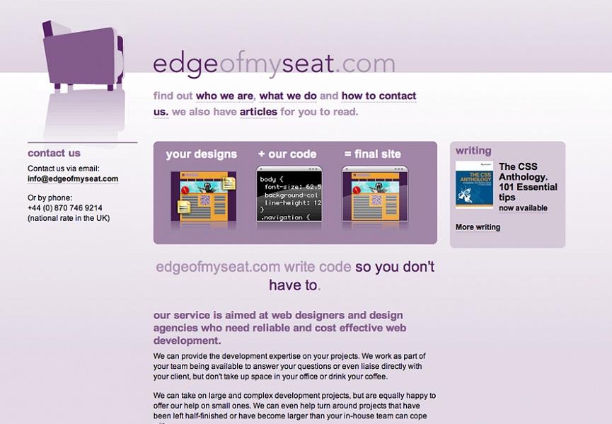 Edgeofmyseat.com Homepage design