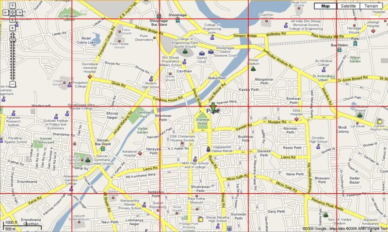 Google Maps early design