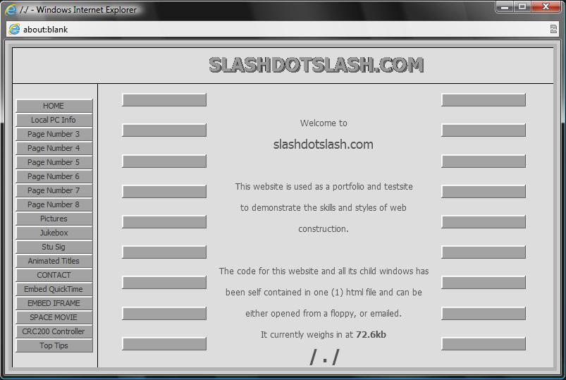 Screenshot of slashdotslash.com