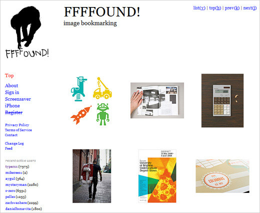 FFFFound layout