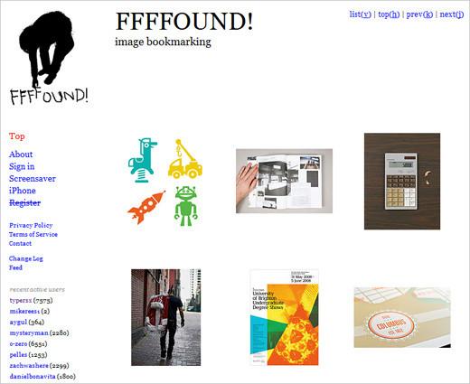 FFFFound layout