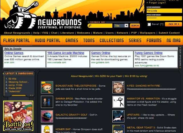 The Newgrounds Portal