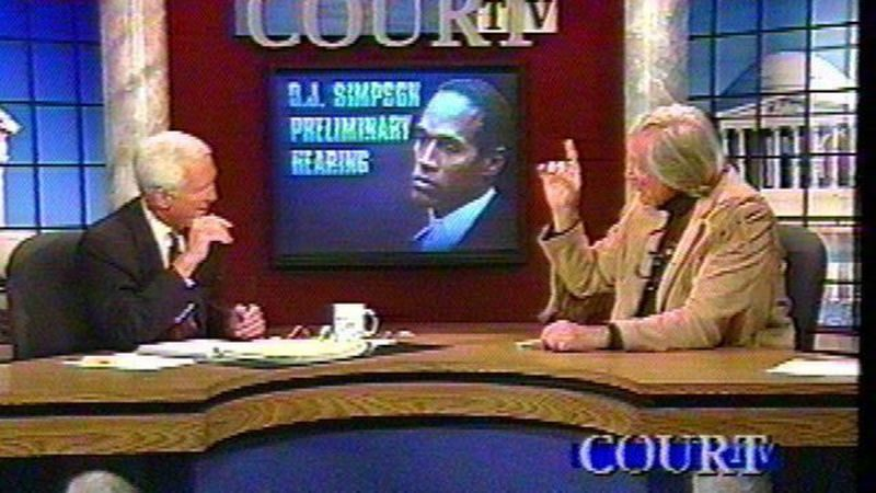 A debate on CourtTV during the OJ trial