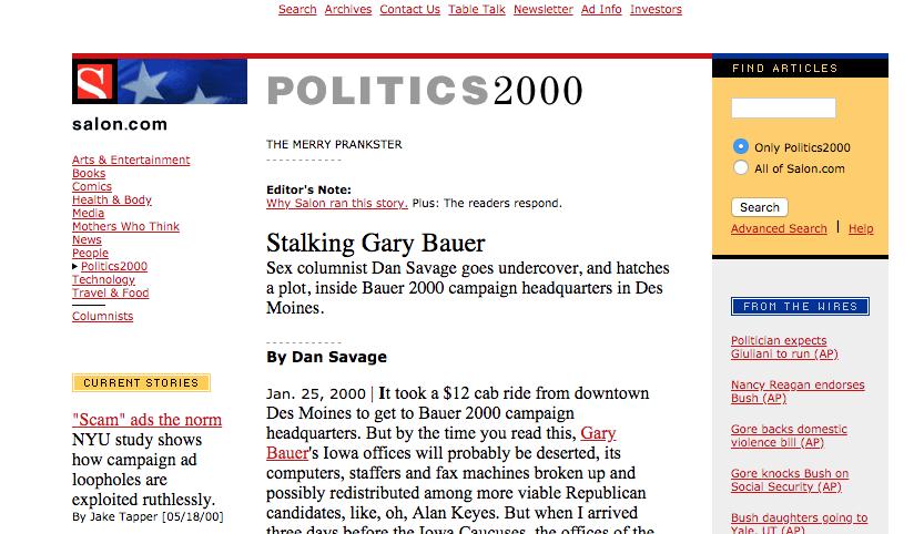 Salon in the year 2000