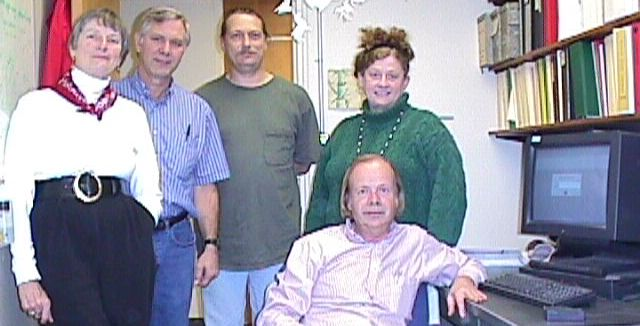 A screenshot of several employees at SLAC, including Louise Addis