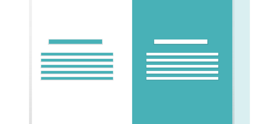 A browser window with contrasted left and right sides illustration