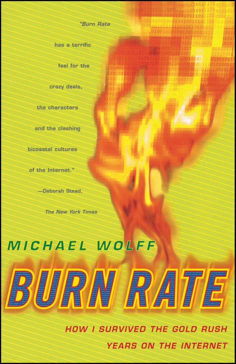 Burn Rate by Michael Wolff cover, which features it title set against flames